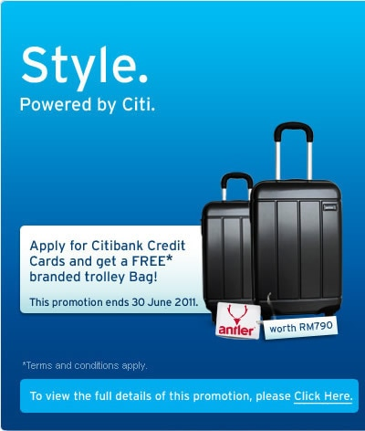 Citibank Credit Card Free Trolley Bag — DK